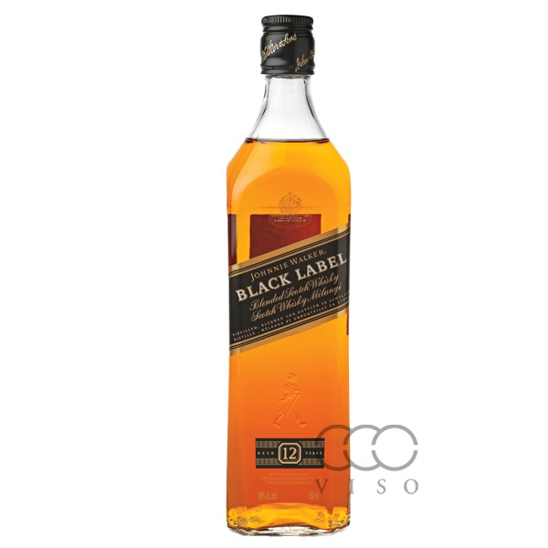 Johnnie Walker Black Label  aged 12yrs Blended Scotch Whisky 40% 700 ML